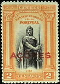 Azores 1926 1st Independence Issue Overprinted a