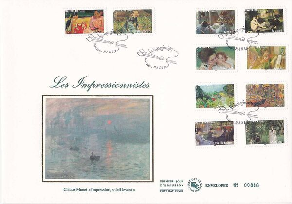 France 2006 The Impressionist Painters FDCa