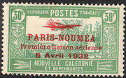 New Caledonia 1933 Definitives of 1928 Overprinted i