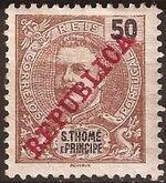 St Thomas and Prince 1911 D. Carlos I Overprinted g