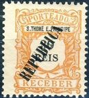 St Thomas and Prince 1913 Postage Due Stamps - 1st Overprint d
