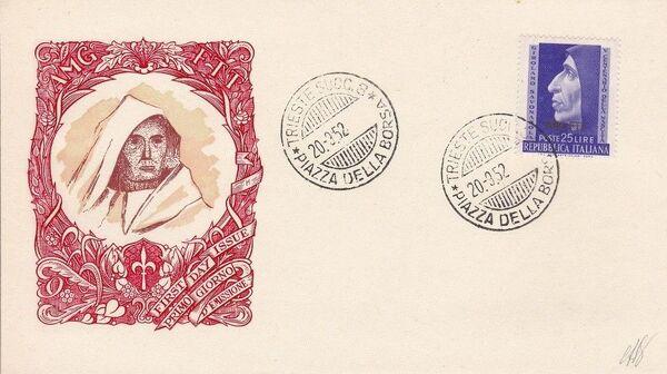 Trieste-Zone A 1952 500th Anniversary of the Birth of Girolamo Savonarola FDCb
