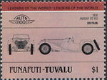 Tuvalu-Funafuti 1984 Leaders of the World - Auto 100 (1st Group) k