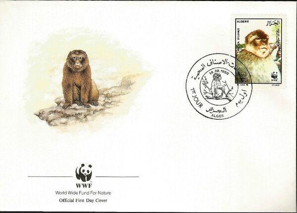 Algeria 1988 WWF - Barbary Macaque FDCc