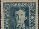 Austria 1917-1918 Emperor Karl I (Military Stamps)