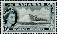 Bahamas 1954 Queen Elisabeth II and Landscapes Issue o