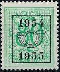 Belgium 1954 Heraldic Lion with Precancellations f