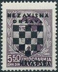Croatia 1941 Peter II of Yugoslavia Overprinted in Black i