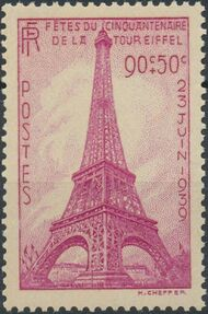 France 1939 50th Anniversary of Eiffel Tower a
