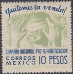 Mexico 1945 Alphabetization Campaign (Regular Mail) f