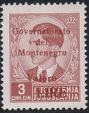 Montenegro 1941 Yugoslavia Stamps Surcharged under Italian Occupation l
