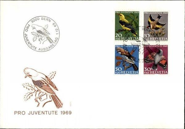 Switzerland 1969 PRO JUVENTUTE - Birds FDCa