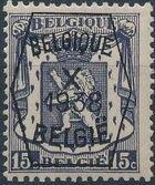 Belgium 1938 Coat of Arms - Precancel (10th Group) a
