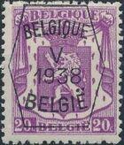 Belgium 1938 Coat of Arms - Precancel (5th Group) b