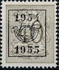 Belgium 1954 Heraldic Lion with Precancellations d