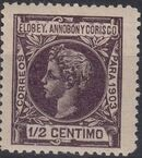 Elobey, Annobon and Corisco 1903 King Alfonso XIII b