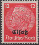German Occupation-Alsace 1940 Stamps of Germany (1933-1936) Overprinted in Black g