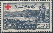 Lebanon 1947 Surtax for the Red Cross e