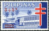 Philippines 1965 Philippine Tuberculosis Society - Negros Oriental TB Pavilion Stamps of 1964 Surcharged b