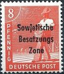 Russian Zone 1948 Overprint - Sowjetische Besatzungs Zone c