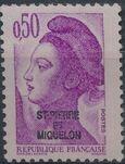 St Pierre et Miquelon 1986 Liberty from France Overprinted ST-PIERRE ET MIQUELON f