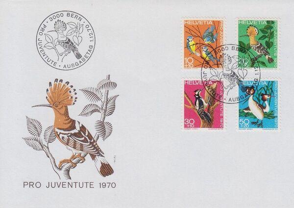 Switzerland 1970 PRO JUVENTUTE - Birds FDCa