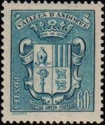 Andorra-French 1942 Coat of arms of Andorra d