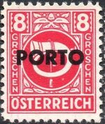 Austria 1946 Occupation Stamps of the Allied Military Government Overprinted in Black d