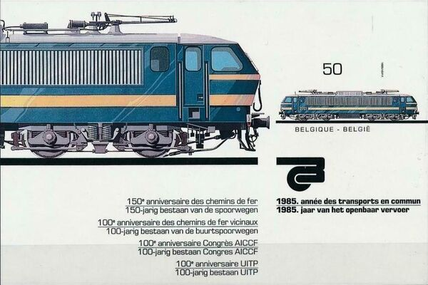 Belgium 1985 Public Transportation Year SSb