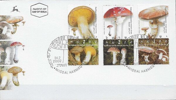 Israel 2002 Mushrooms FDCa
