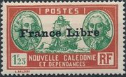 "New Caledonia 1941 Definitives of 1928 Overprinted in black ""France Libre"" x"