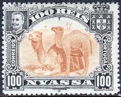 Nyassa Company 1901 D. Carlos I (Giraffe and Camels) j