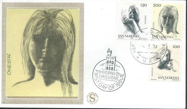 "San Marino 1976 ""Civic Virtues"" FDCc"