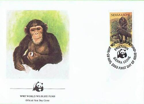 Sierra Leone 1983 WWF - Chimpanzees from Outamba-Kilimi National Park FDCb