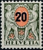 Switzerland 1937 Postage Due Stamps of 1924 Surcharged with New Values c