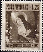 Vatican City 1956 500th Death Anniversary of St. Rita of Cascia b