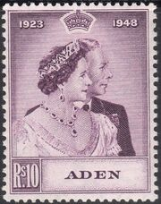 Aden 1949 Silver Wedding of King George VI & Queen Elizabeth b