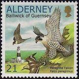 Alderney 2000 WWF Peregrine Falcon a