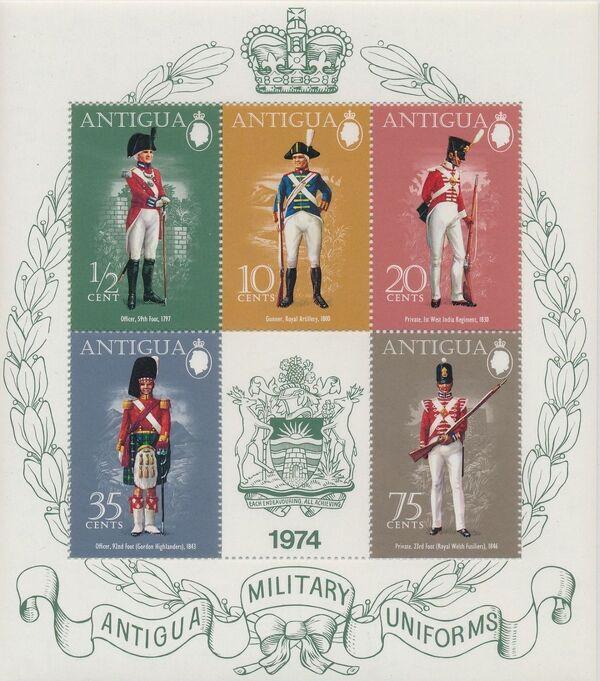 Antigua 1974 Military Uniforms g