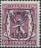 Belgium 1939 Coat of Arms - Precancel (1st Group) e