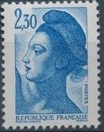 France 1982 Liberty after Delacroix (1st Issue) l