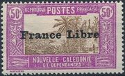 "New Caledonia 1941 Definitives of 1928 Overprinted in black ""France Libre"" n"