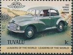 Tuvalu 1984 Leaders of the World - Auto 100 (1st Group) f