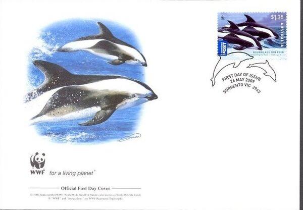Australia 2009 WWF - Dolphins of the Australian Coastline FDCb