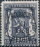 Belgium 1938 Coat of Arms - Precancel (11th Group) a