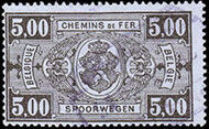 Belgium 1941 Railway Stamps (Numeral in Rectangle IV) o