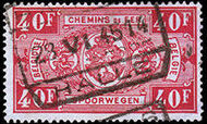 Belgium 1941 Railway Stamps (Numeral in Rectangle IV) w