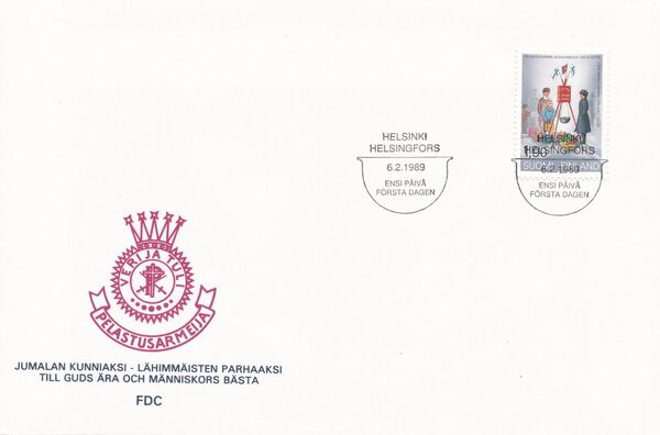 Finland 1989 Centenary of the Salvation Army in Finland FDCa
