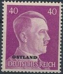 German Occupation-Russia Ostland 1941 Stamps of German Reich Overprinted in Black o