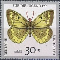 Germany-Unified 1991 Endangered Butterflies a